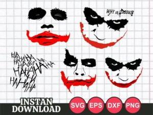 Joker SVG Cut File