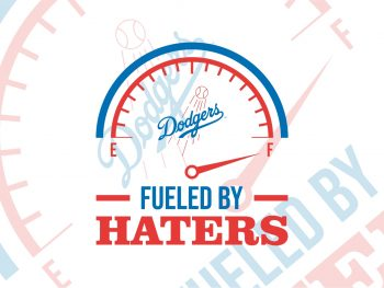 Los Angeles Dodgers fueled by haters svg cricut vector