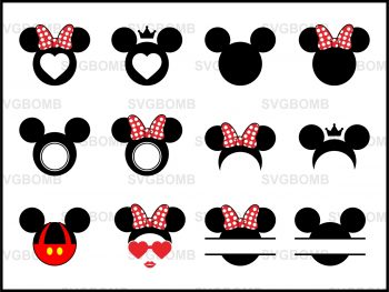 Mickey Mouse Monogram SVG