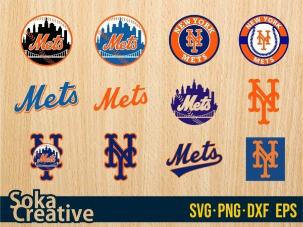 Cricut Logo Baseball New York Mets SVG Bundle