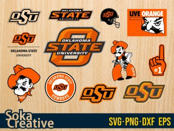 Oklahoma State Cowboys SVG University svg