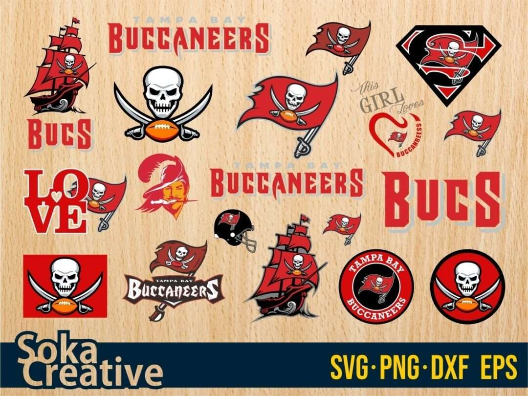 tampa bay buccaneers svg bundle vectorency vectorency