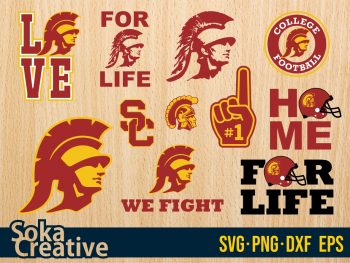 USC trojans Football svg cricut vector