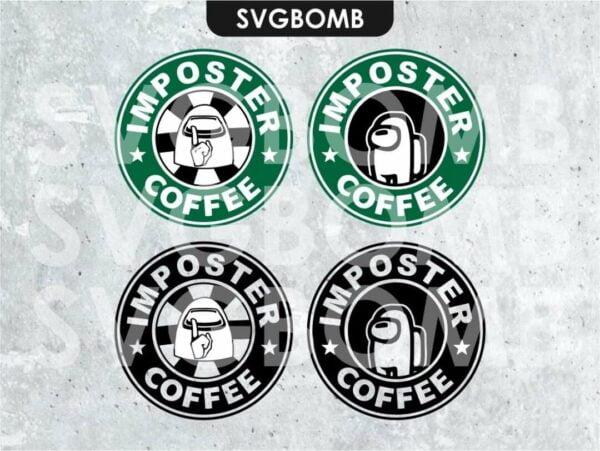 among us svg cricut starbucks imposter coffee svgbomb
