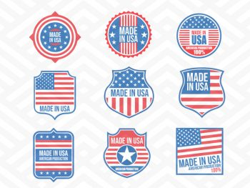 blank made in usa badges svg