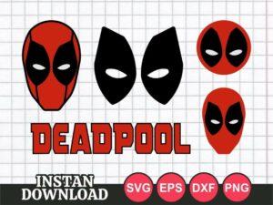 deadpool svg bundle cut file