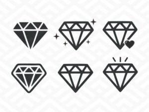 diamond svg cut file cricut