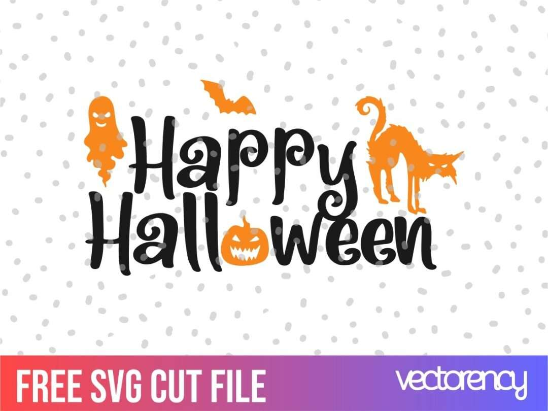 Free Svg Happy Halloween Svg Dxf Png Eps Vector Vectorency