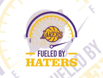 Los Angeles lakers fueled by haters svg cricut