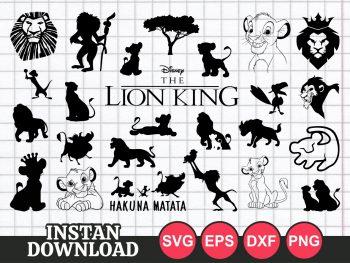 lion king svg bundle vector file