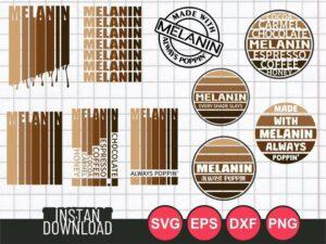 melanin svg bundle cut file cricut