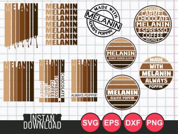 melanin svg bundle cut file cricut