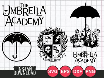 preview The Umbrella Academy SVG Cut File