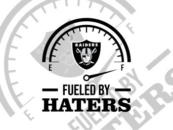 las Vegas raiders fueled by haters svg cut file