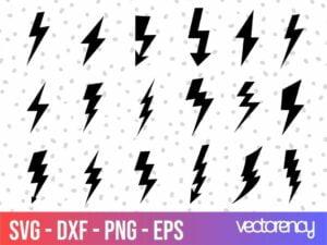thunderbolt flash svg cut file