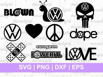 vw logo svg cut file decals vinyl