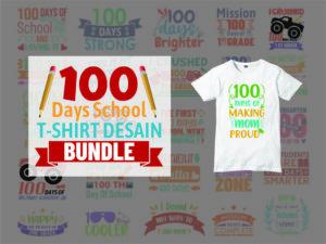 100 Days School SVG Bundle Cricut File