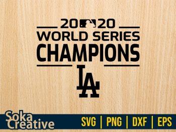 2020 World Series Champions LA Dodgers SVG Cricut File