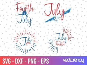 4th of July SVG Graphic Cut File