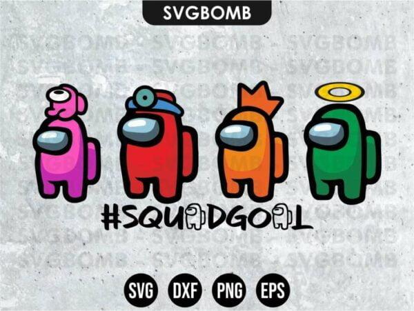 Among Us Squadgoals SVG Cut File