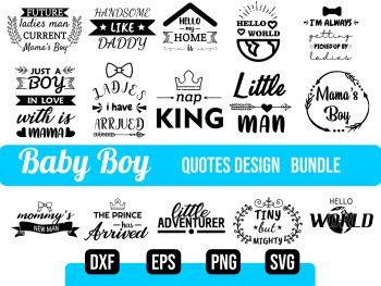 Baby Boy SVG Bundle Vector Files
