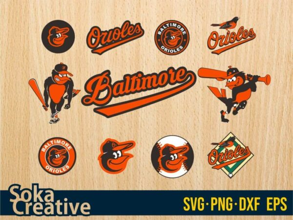 Baltimore Orioles SVG Vectorency Baltimore Orioles SVG Bundle