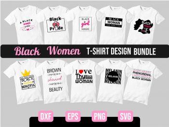 Black Woman SVG Bundle Vector File