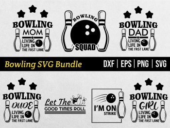 Bowling SVG Bundle Digital Cut File