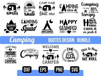 Camping SVG Bundle Vector File