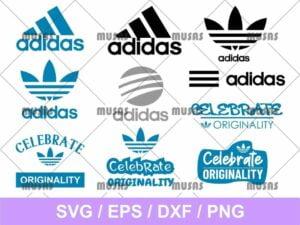 Celebrate Adidas SVG Bundle Cut File