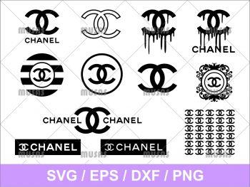 Chanel Drip SVG Logo Dripping painting Cricut