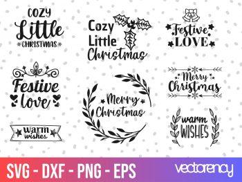 Christmas Label SVG Digital cut file for cricut