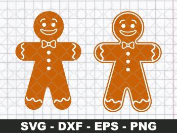 Christmas gingerbread svg clipart for Cricut