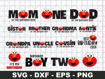 Elmo Birthday SVG Face Sesame Street