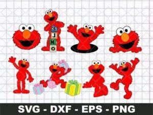 Elmo SVG bundle