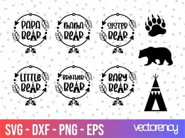 Family Bear SVG Design Bundle