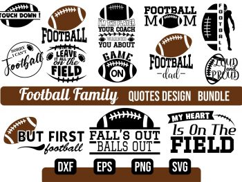 Football Family SVG Bundle Vectorency Today's Deals