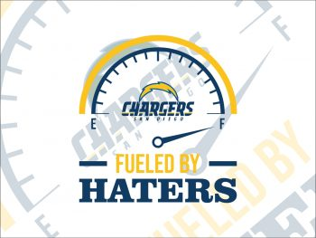 Fueled By Haters Los Angeles Chargers SVG Cricut File Vector