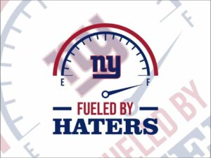 Fueled By Haters New York Giants SVG Cut File