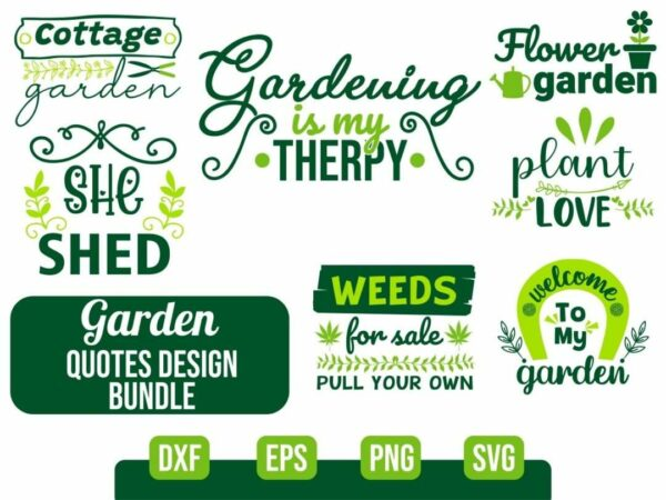 Garden SVG Bundle Vectorency Garden SVG Bundle