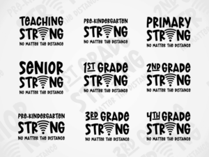 Grade Strong SVG Design