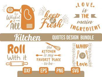 Kitchen Quotes SVG Bundle Vector File for Cricut