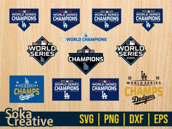 LA Dodgers Championship world series 2020 SVG Cut File Cricut