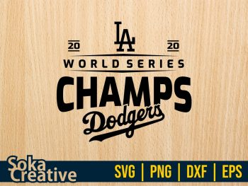 LA Dodgers Championship world series 2020 SVG