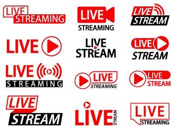 Live stream buttons SVG Cricut Cut File