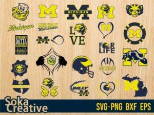 Michigan Wolverines Football SVG Bundle Michigan Wolverines SVG Cricut