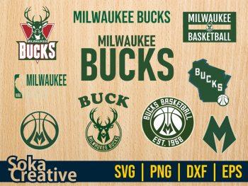Milwaukee Bucks SVG Bundle Cut File EPS