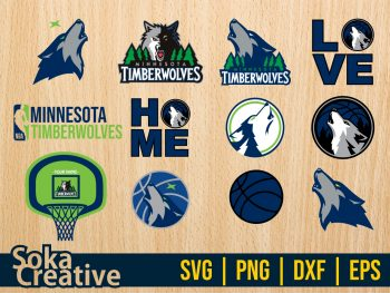 Minnesota Timberwolves SVG Bundle Cricut File