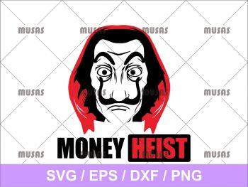 Money Heist SVG Vector Cricut File