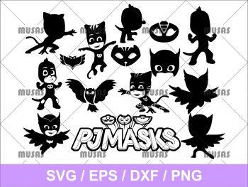 PJ Mask SVG Bundle Cricut File